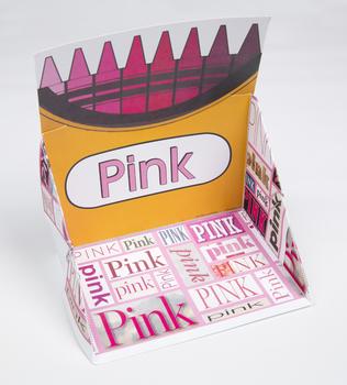 Crayon Box Display Case: Pink
