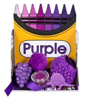 Crayon Box Display Case: Purple