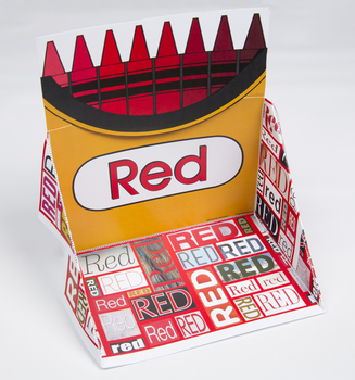 Crayon Box Display Case: Red