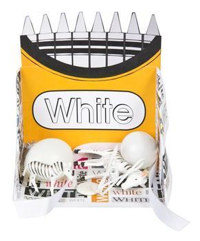 Crayon Box Display Case: White