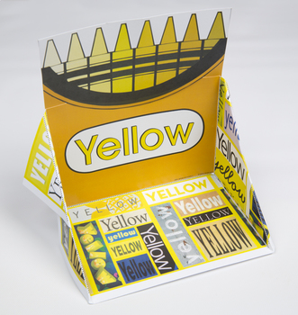 Crayon Box Display Case: Yellow
