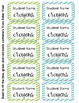 Crayon Box Editable Lid Labels - Blue & Green
