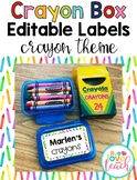 Crayon Box Editable Lid Labels - Crayons