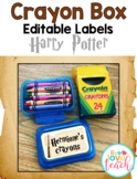 Crayon Box Editable Lid Labels - Harry Potter Inspired