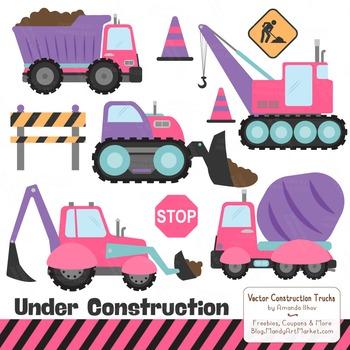 Crayon Box Girl Construction Clipart & Vectors