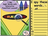 Crayon Box- I Spy Sight Words-  Interactive PowerPoint