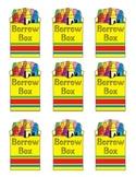 Crayon Box Label