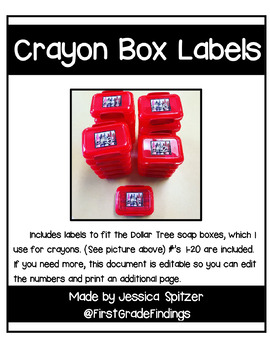 Crayon Box Label Stickers