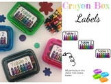 Crayon Box Labels
