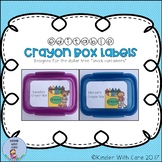 """Crayon Box Labels - Dollar Tree """"Snack Containers"""""""