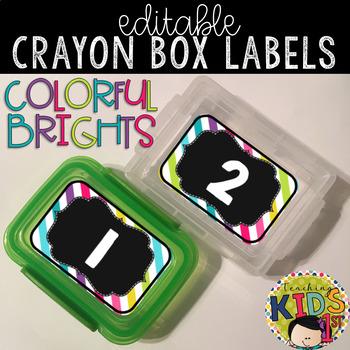 Crayon Box Labels Editable (COLORFUL BRIGHTS)