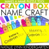 Crayon Box Name Craft | Back to School Craft | DIGITAL Practice