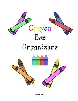 Crayon Box Organizer (Great for TK , K, 1st, ...)
