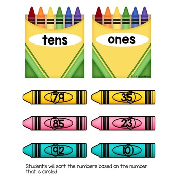 Crayon Box Place Value-Tens and Ones