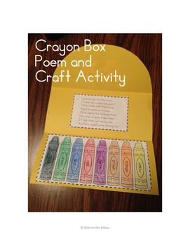 Crayon Box Poem and Craft Activity
