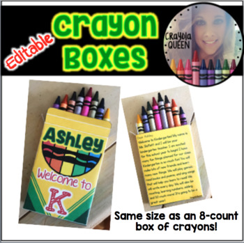 Crayon Box Template FREEBIE