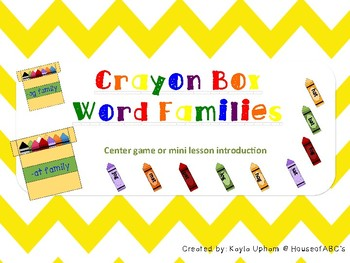 Crayon Box Word Families