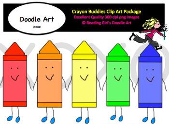 Crayon Buddies Clip Art Pack