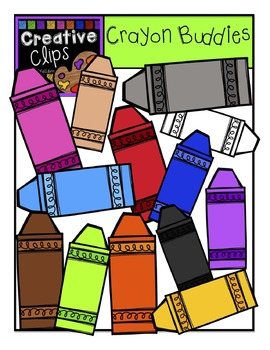 Crayon Buddies and KIDS {Creative Clips Digital Clipart}