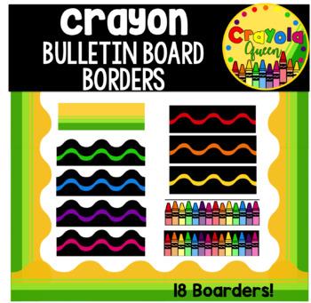 Crayon Bulletin Board Borders