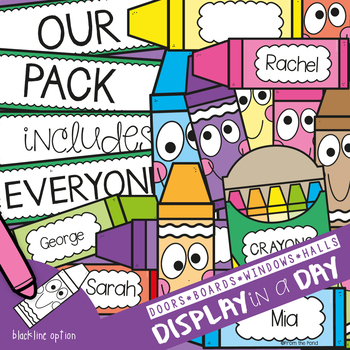 Crayon Bulletin Board Set