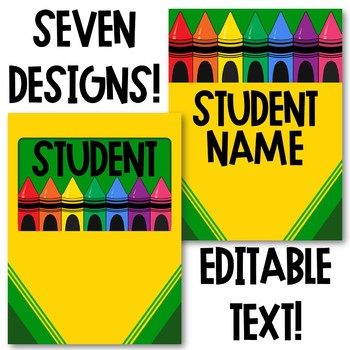 Crayon Classroom Theme - Binder Covers