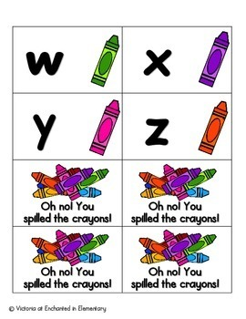 Crayon Clean-Up Alphabet! Letter and Sound Recognition Game