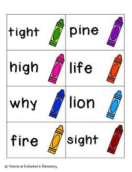 Crayon Clean-Up Phonics: Long I Pack