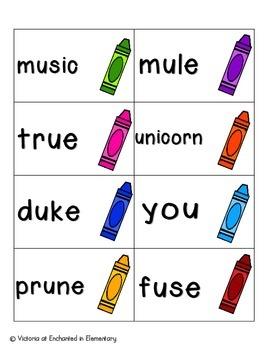 Crayon Clean-Up Phonics: Long U Pack