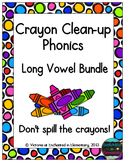 Crayon Clean-Up Phonics: Long Vowel Bundle