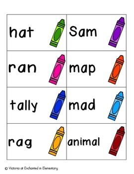Crayon Clean-Up Phonics: Short A Pack