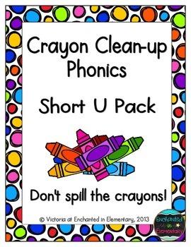 Crayon Clean-Up Phonics: Short U Pack