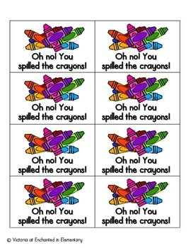 Crayon Clean-Up Sight Words! Pre-Primer List Pack