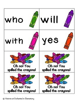 Crayon Clean-Up Sight Words! Primer List Pack