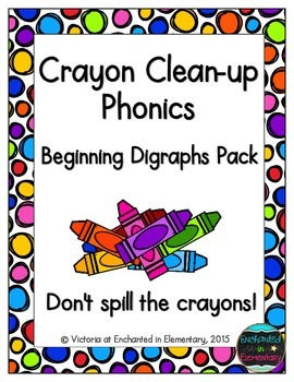 Crayon Clean-up Phonics: Beginning Digraphs Pack