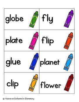 Crayon Clean-up Phonics: L-Blends Pack