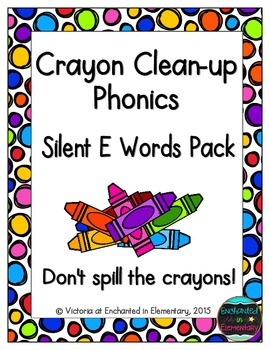 Crayon Clean-up Phonics: Silent E Words Pack