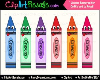 Crayon Clip Art FREEBIE