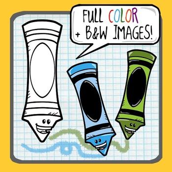 Crayon Clip Art ~ Freebie!