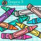 Crayon Clip Art {Rainbow Glitter Back to School Supplies for Teachers} 3