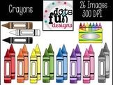 Crayon Clip Art Set