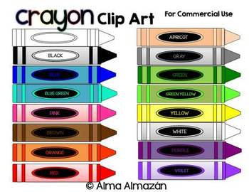 Crayon Clip Art for Commercial Use