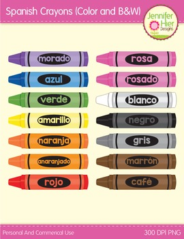 Crayon Clip Art in Spanish