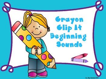 Crayon Clip It Beginning Sounds