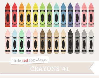 Crayon Clipart; School Supplies, Art