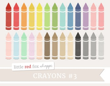 Crayon Clipart; School Supplies, Art