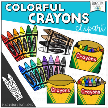 Crayon Clipart and Crayon Boxes