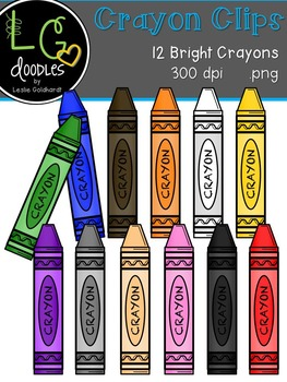Crayon Clips ~ by LG Doodles