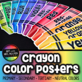 Crayon Color Poster Cards