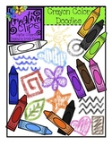 Crayon Color Doodles {Creative Clips Digital Clipart}